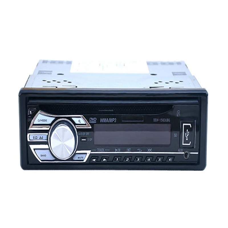 2018 Top sale New Car Audio Stereo In-Dash DVD CD MP3 Radio Player SD Input AUX FM Receiver Car Electronics best price Vicky 1563u 1 din 12v car radio audio stereo mp3 players cd player support usb sd mp3 player aux dvd vcd cd player with remote control