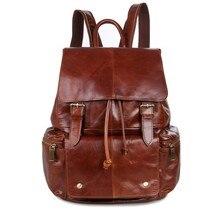 Maxdo Red Brown 100% Guarantee Real Genuine Leather Women Backpack Cowhide School Bags Girl Girl's Travel Bag #M7249