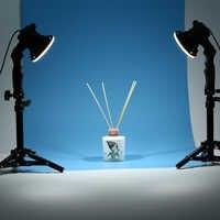 2 pièce lampe à LED photographie studio ampoule portrait boîte souple remplissage ampoule et 2*37CM support de lumière
