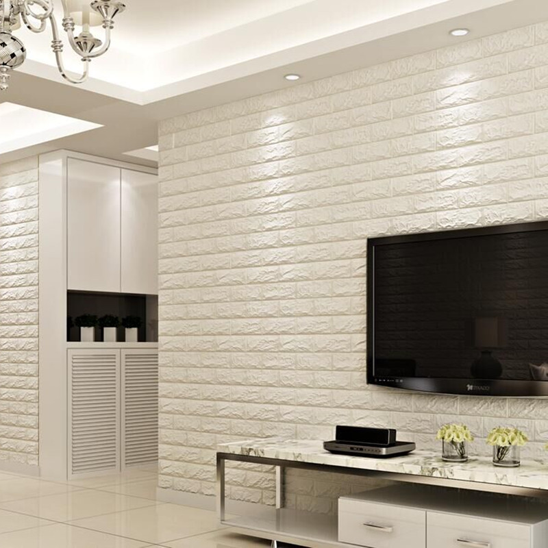①thickening 3d Three Dimensional Wall Stickers Anti Collision Brick