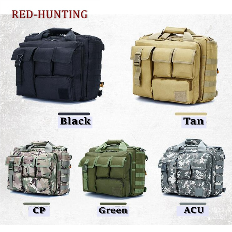 Multifunction Mens Outdoor Tactical Nylon Shoulder Laptop Messenger Bag Briefcase Handbags Large Enough For 15.6