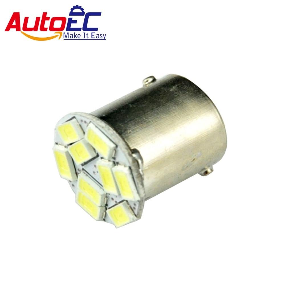 AutoEC 50x Car Brake Light Bulbs S25 1156 1157 Ba15s Bay15d p21w p21/5w 9 LED SMD 5630 5730 Auto Parking light DC12V #LF40