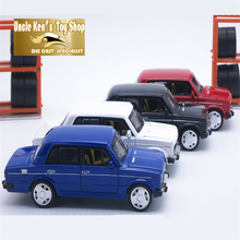 15CM Russia LADA Diecast Model Car, Vintage Metal Car, Kids Boys Gift Toys With Openable Door/Pull Back Function/Music/Light