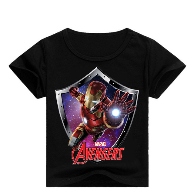 Baby Jungen Marvel Avengers Iron Man Drucken T Shirts Sommer Kinder Kurzarm T-shirt Boy Tees Mädchen Top Kinder Kleidung kid Kostüm