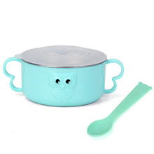 Baby Feeding Tableware Stainless Steel Bowl Double Handle Warm Layer Insulated Wholesale