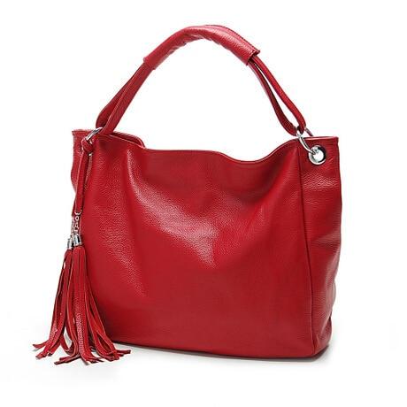 tassel big tote sale women leather handbags luxury vintage famous designer bag ladies party brand purse shoulder black bags Q0