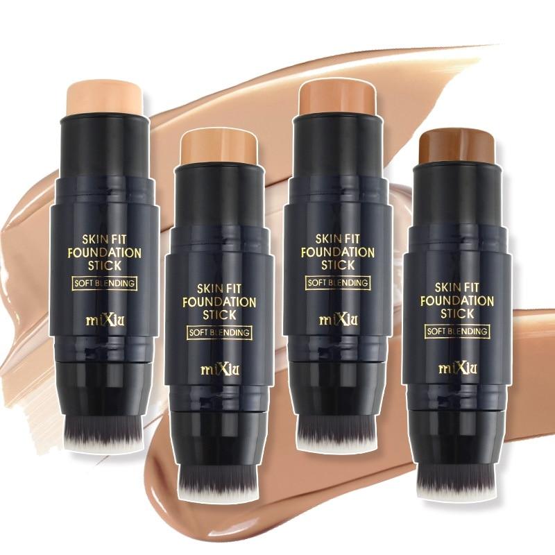 Maquiagem fundação sombra corretivo vara com pincéis de maquiagem maquiagem contorno paleta cremosa cobertura óleo-controle beleza