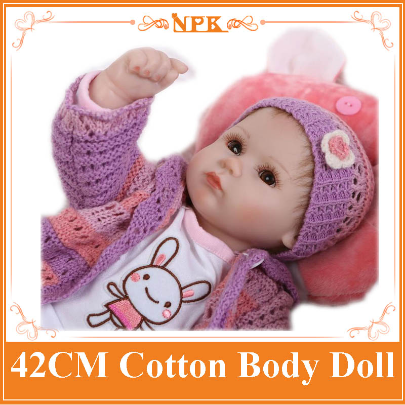 42cm 18 inch Reborn Baby Doll Soft Vinyl Like Silicone Girls Christmas Gift Baby Toys Birthday