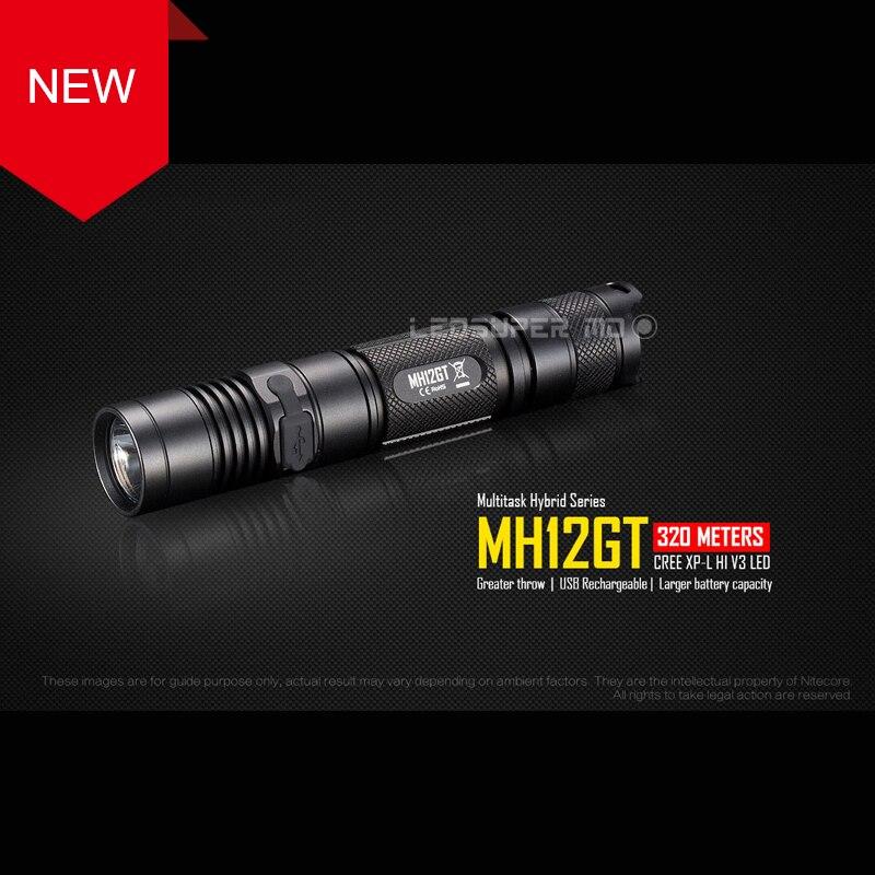 RECENT PRODUCT 2017 NITECORE MH12GT CREE XP-L HI V3 LED 1000 Lumens USB Rechargeable Flashlight with 3400mAh Battery