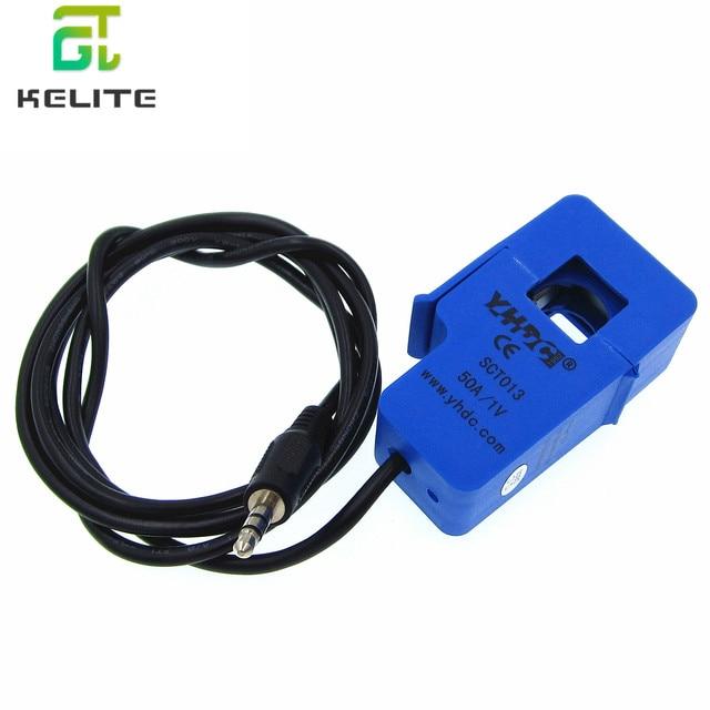 5pcs SCT013 50A 100A SCT 013 000 Non invasive AC current sensor Split Core Current Transformer