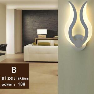 Image 3 - アクリル現代のled壁は、家庭のリビングルームのベッドサイドベッドルームlustres新クリエイティブled燭台ウォールランプ