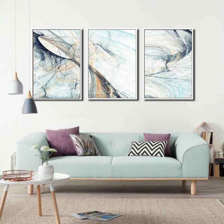 Sure Life 3 предмета современная абстрактная линия Psychedelic холст картины настенные художественные картины плакаты принты гостиная домашний деко...