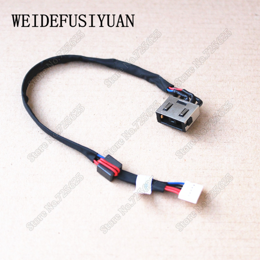 <font><b>50</b></font>-100PCS DC Jack Power with Cable Harness for <font><b>LENOVO</b></font> YOGA Y40 Y70 G50 Y50 Y50-<font><b>70</b></font> series image