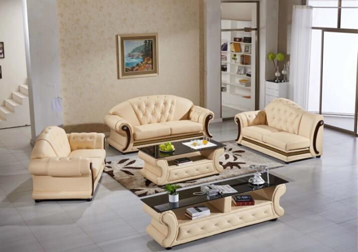 €1274.84  Canapé ensemble salon meubles canapé moderne ensemble avec canapé  en cuir véritable ensemble-in Canapés salle de séjour from Meubles on ...