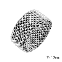 BG 87 Wholesale High Quality Polish Shiny Ring Stainless Steel Fashion Jewelry Men Women Gift Ring