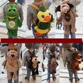 Korea Cute Cartoon Nici Elephant Lion Tiger Duck Horse Plush Backpack Boys And Girls Small Animal Stuffed Toys Bagsfor Gifts