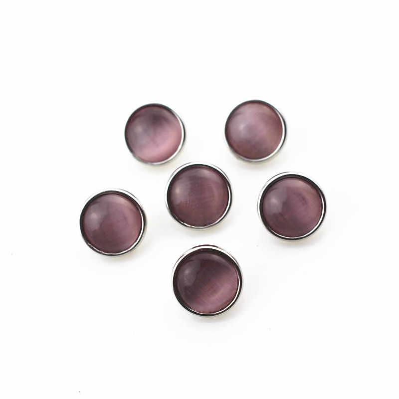 Nuovo arriva 20 pz/lotto rosa opal cat pietra snap bottoni per 12mm gioielli scatto zenzero scatto pendente/braccialetto