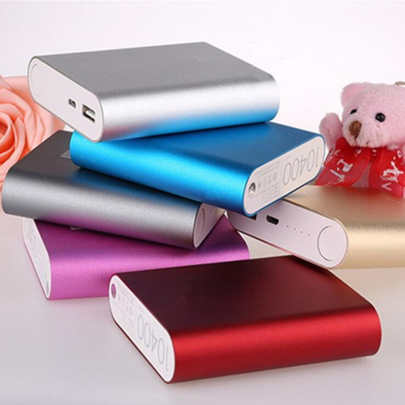 Power Bank Case USB Port Charger Box Use 4*18650 Battery 10400mAh Capacity Aluminum Alloy Cover Color Send By Random