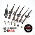 Recentes 6 pçs/set 1:6 Terminou 38 Armas de Fogo Rifle Rifle 98 K Bomba de Fumaça do Soldado OMAHAWK Antitank Grenade Modelo Punhal