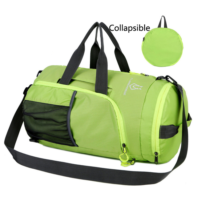 0f0b86dd7659 Waterproof Nylon Sport Outdoor Shoulder Tote Gym Bag Men Women Foldable  Lightweight Fitness Bags Backpack For Basketball-in Gym Bags from Sports &  ...