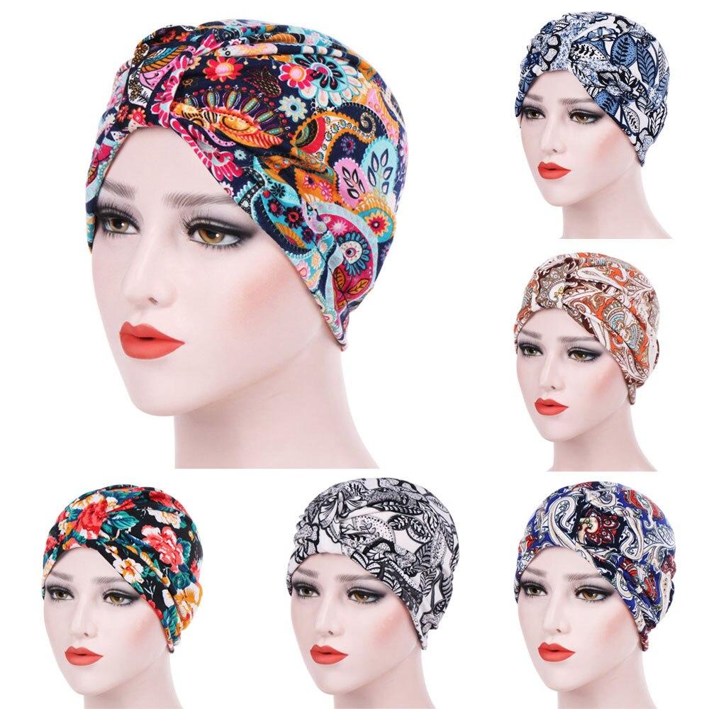 Winter Autumn Roses Floral Print Velvet Turban Women Luxury   Beanie   Head wrap Chemo Cap for Hair Loss Ladies Turbante 4.10