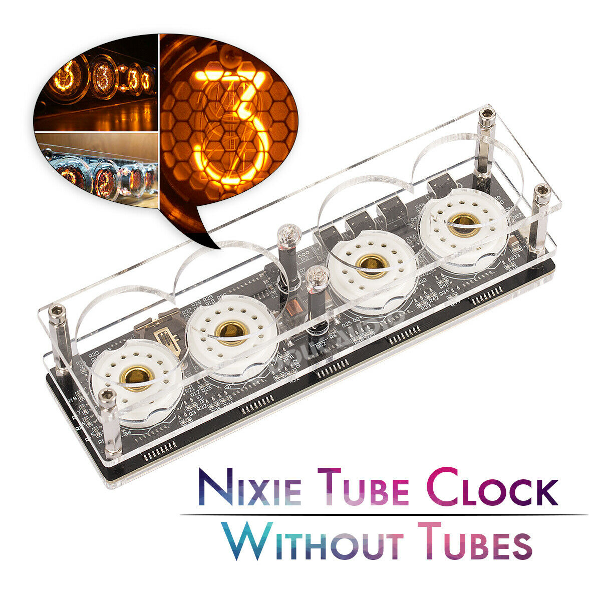 Nobsound Mini Retro Digital Nixie Tube Clock DIY KIT Assembled Without ZM1020 Z560M Tubes