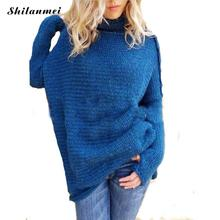 2019 New Arrival basic oversize Turtleneck pullovers Knitted female sweater tops solid colors warm casual pull