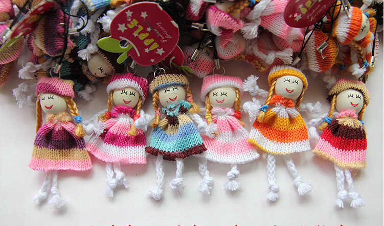 1pcs new 8cm Kids Toys Soft Interactive Baby Dolls Toy Wool doll ethnic dolls Mini Doll For boys and Girls