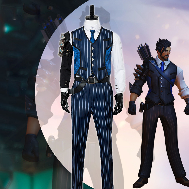 Game Over and Watch Cosplay Costume Shimada Hanzo Cosplay Costume Uniform Suit Men Halloween Carnival Party Clothes S to 2XL