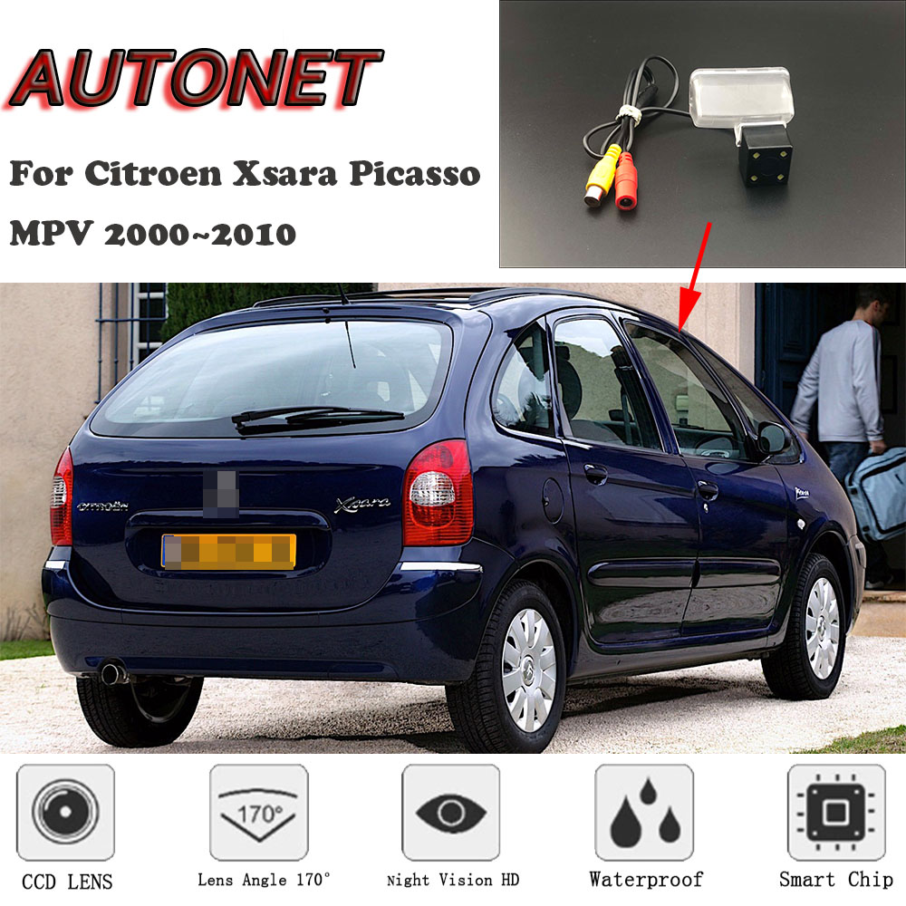AUTONET HD Gece Görüş Yedekleme Dikiz kamera Citroen Xsara Picasso Için MPV 2000 ~ 2010 CCD/plaka kamera