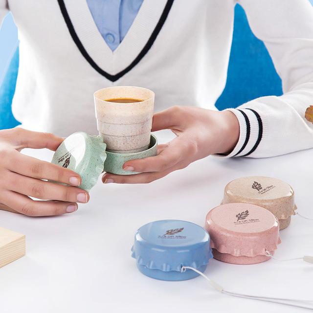 Creative Portable Folding Eco-Friendly Plastic Travel Mug