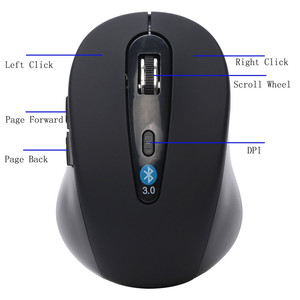 Image 4 - 新ワイヤレスミニbluetooth 3.0 6D 1600dpi光学式ゲーミングマウスマウスラップトップ/デスクトップ/ビデオゲームDrioship.1.26