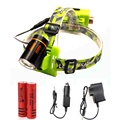 T6 LED Headlight Cree T6 Waterproof 2000lm rechargeable Headlamp  Mobile Power Supply 4 Modes bicycle Torch Flashlight Angle Eye