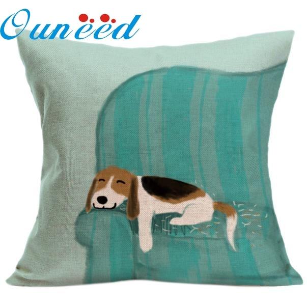 My House Vintage Cute Dog Pillow Case Sofa Waist Throw Cushion Cover Home Decor Hot drop shipping Oct25