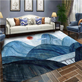 North European 3D Printing Living Room Plant Mountain Multi-size Carpet Bedroom Foyer Coffee Table Sofa Carpet Home Decoration