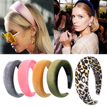 Classic Silk Headbands Wide Hairband Hair Ornaments Woman Thick Turban Headband For Girls Head Wraps Hair Band Hoop Accessories japan and south korea hair ornaments head ornaments pearl ribbon headband hair hoop headband