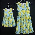2017 Лето семьи сопоставления одежда платья для детей девушки печатает юбки мама и девушки платье без рукавов мать дочь платья