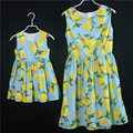2017 Summer family matching clothes dresses for kids girl prints skirts mommy and girls sleeveless dress mother daughter dresses