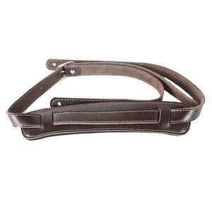 Image 3 - ブラウンと黒牛革パッド入りギターストラップソフト耐久性のある調節可能な兵士厚みエレクトリックアコースティックギターベースベルト