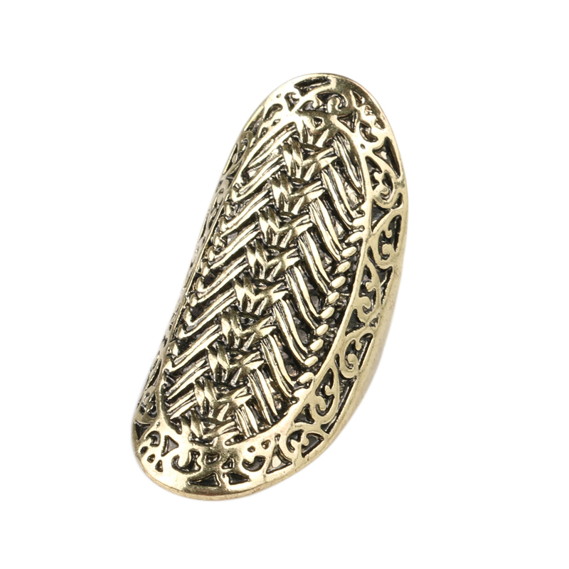 Charm Big Finger Ring Vintage Look 2015 Fashion Gold Rings For Women Classical Pattern Christmas