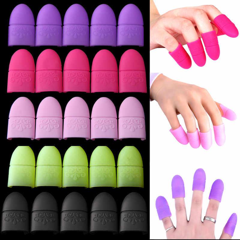 5 шт. дизайн ногтей замочить от крышки клип эластичные силиконовые наконечники