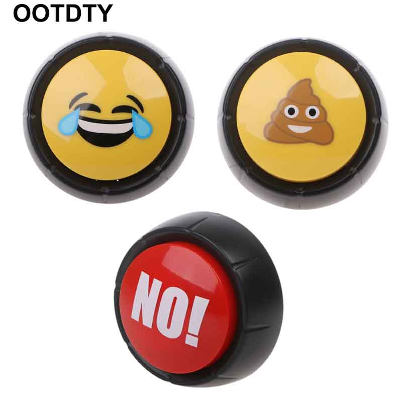 Novelty Big Red NO/ Fart Button Fart Sound / Laugh Sound Button Desktop Sound Toy Great For Parents Co-Workers Gag Joke