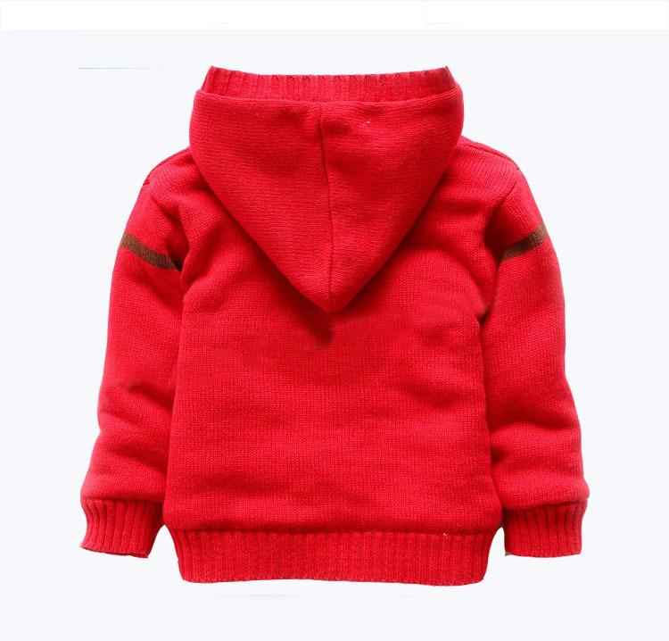 271792e2d981 Baby boy Sweater Cardigan Winter Fleece Warm Coat Christmas Deer ...
