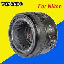 MF YN50mm F1.8 Lente de la cámara de YONGNUO YN 50mm f/1.8 Lente AF yn50 apertura auto enfoque para nikon d5300 d5200 dslr d750 d500 cámaras