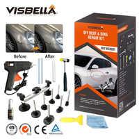 Visbella Auto Dent Reparatur Kit Professionelle für Auto Türen Truhe Dach Entferner Puller Ziehen mit Kleber Pistole Hand Werkzeug Sets