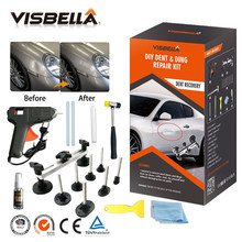 Visbella Car Dent Repair Kit Professional for Auto Doors Coffer Roof Remover Puller Pulling with Glue Gun Hand Tool Sets(China)