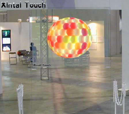 Free shipping! (1.524*5meters) Adhesive transparent Rear projection screen film for 3d hologram display