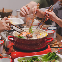 Japanese Glass Cover Round Thicken Hot Soup Pot Porcelain Enamel Stew General Household Electromagnetic Furnace Cooking