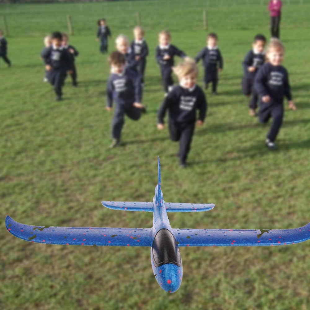 DIY Mainan Anak Busa Pesawat Tangan Melemparkan Pesawat Terbang Glider Pesawat Helikopter Terbang Pesawat Model Pesawat Mainan Luar Ruangan permainan