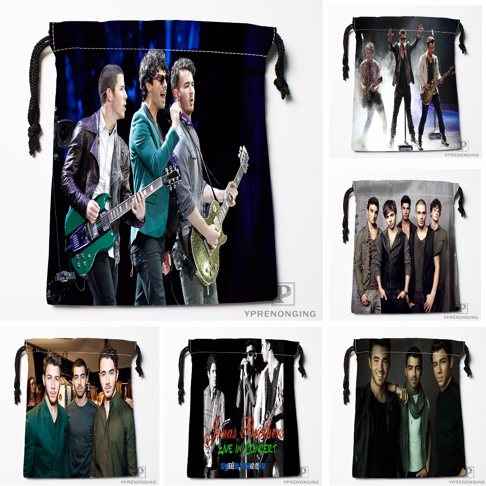 Custom Jonas Brothers Drawstring Bags Travel Storage Mini Pouch Swim Hiking Toy Bag Size 18x22cm#0412-03-21